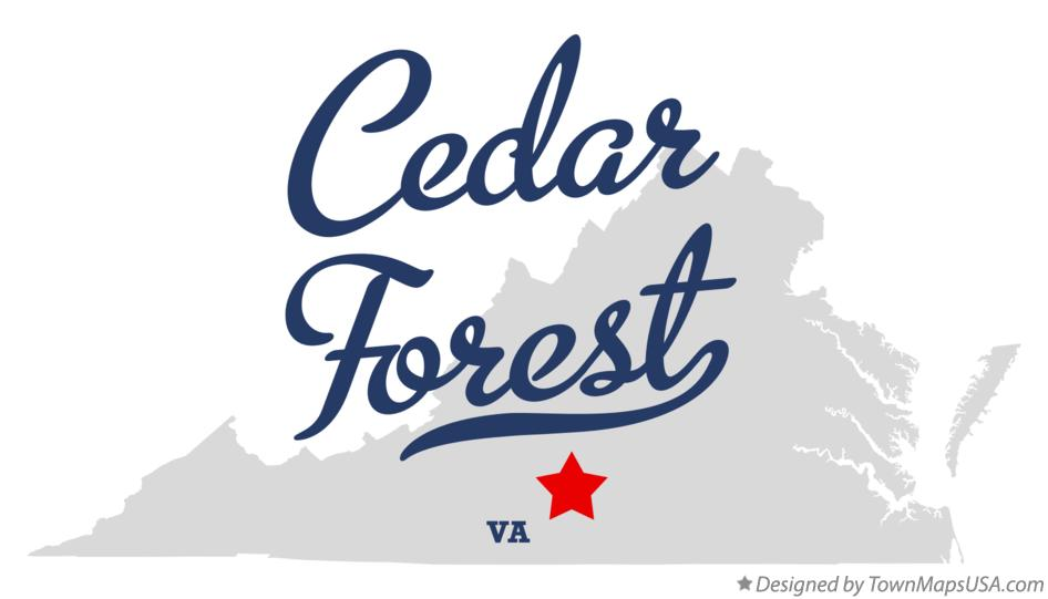 Map of Cedar Forest Virginia VA