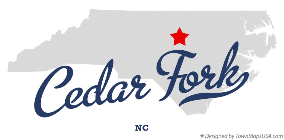 Map of Cedar Fork North Carolina NC