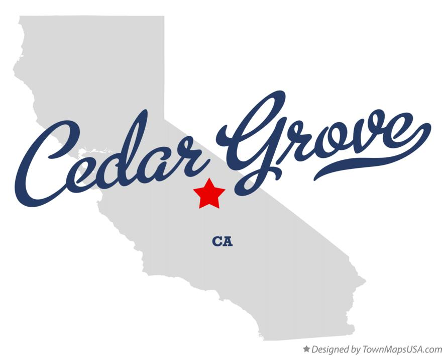 Map of Cedar Grove California CA