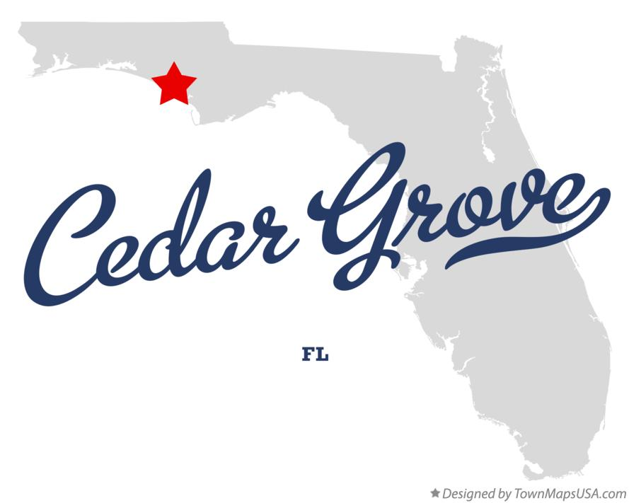 Map of Cedar Grove Florida FL