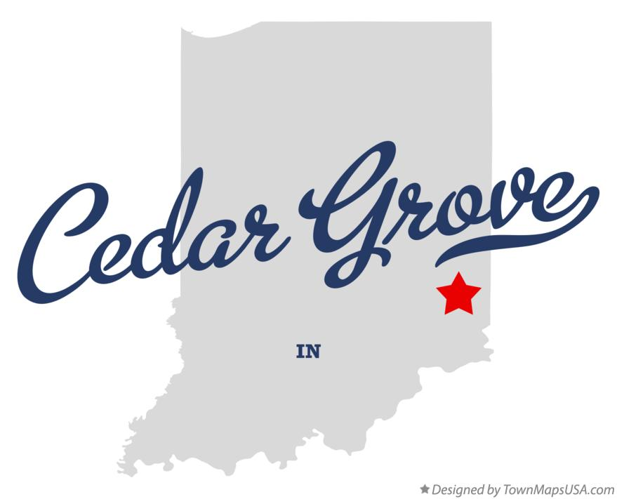 Map of Cedar Grove Indiana IN