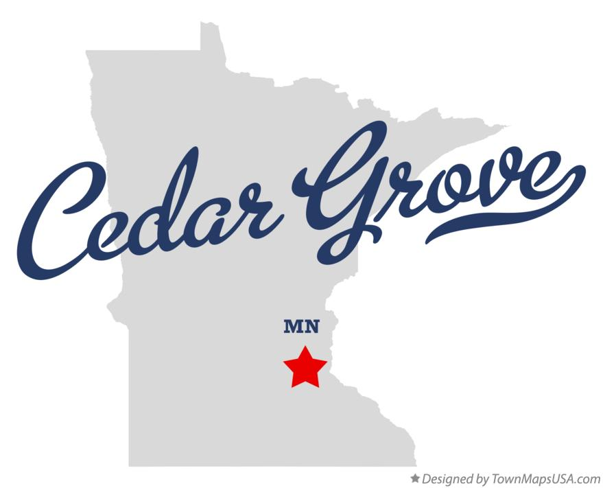 Map of Cedar Grove Minnesota MN