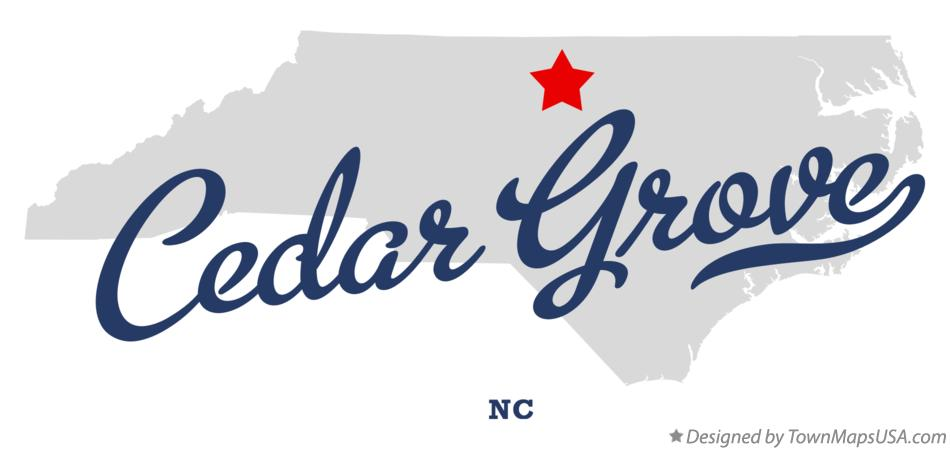 Map of Cedar Grove North Carolina NC