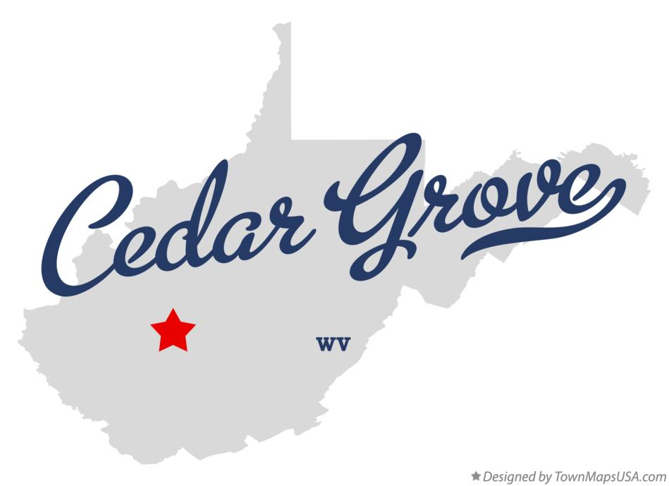 Map of Cedar Grove West Virginia WV