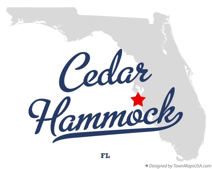 Map of Cedar Hammock Florida FL