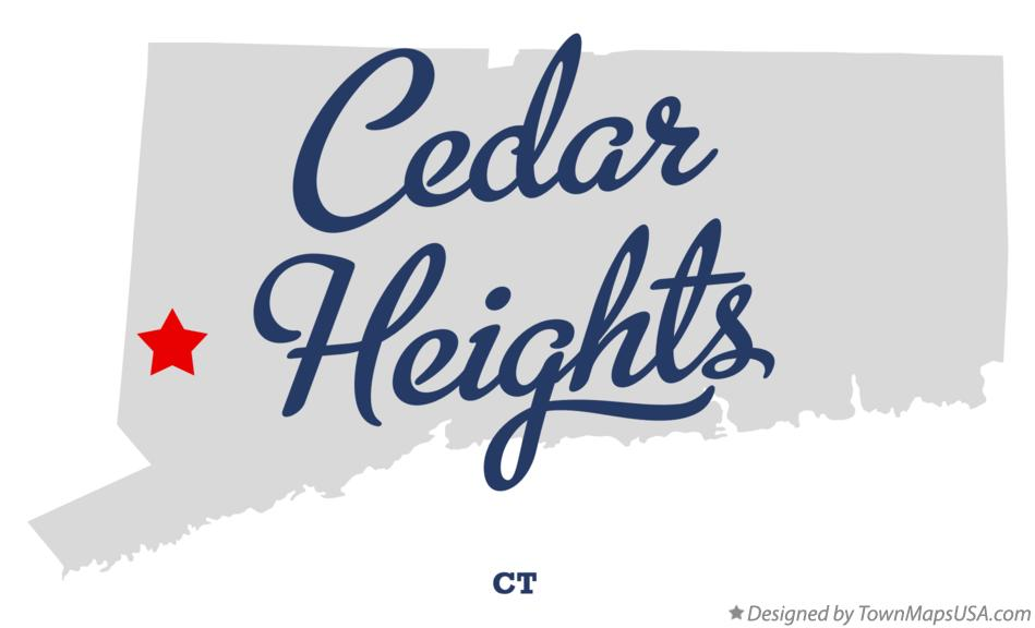 Map of Cedar Heights Connecticut CT