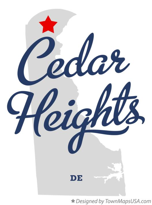 Map of Cedar Heights Delaware DE