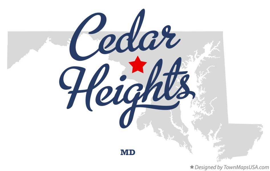 Map of Cedar Heights Maryland MD