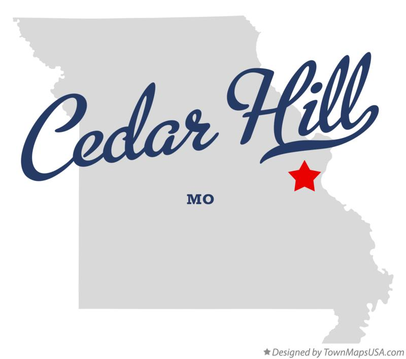 Map of Cedar Hill Missouri MO