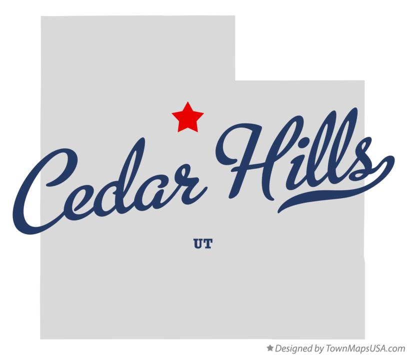 Map of Cedar Hills Utah UT
