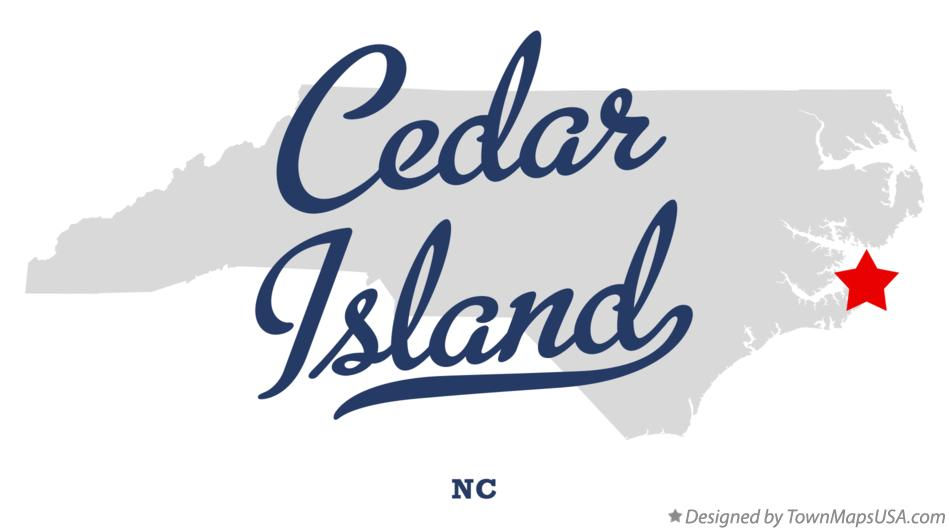 Map of Cedar Island North Carolina NC