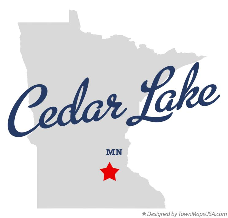 Map of Cedar Lake Minnesota MN