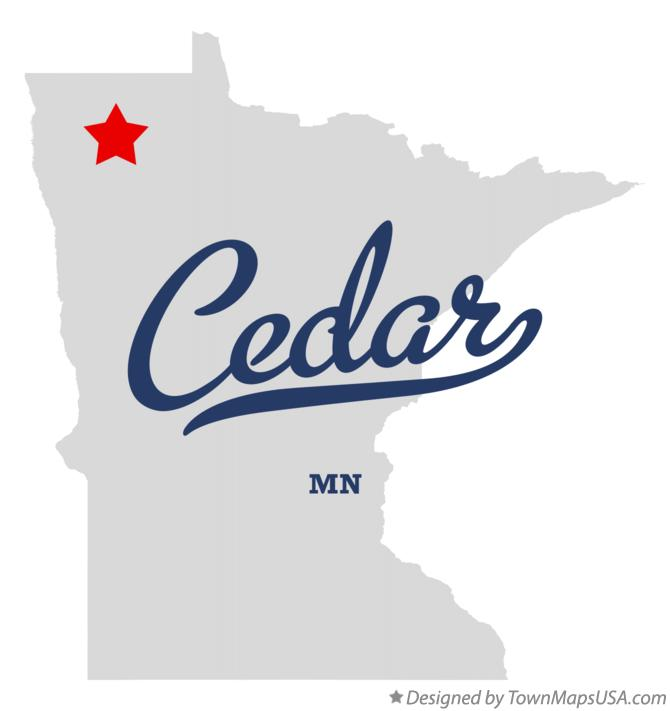 Map of Cedar Minnesota MN
