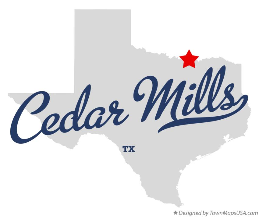 Map of Cedar Mills Texas TX