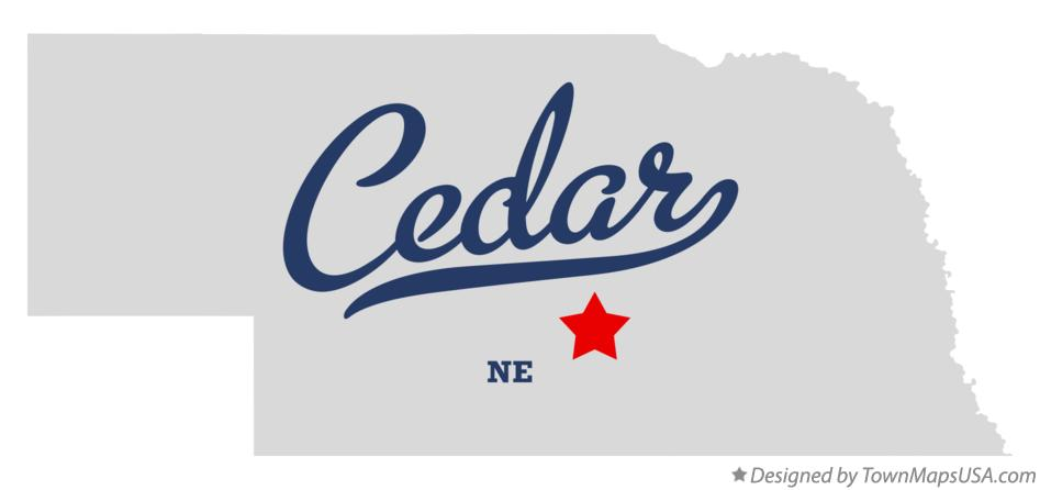 Map of Cedar Nebraska NE