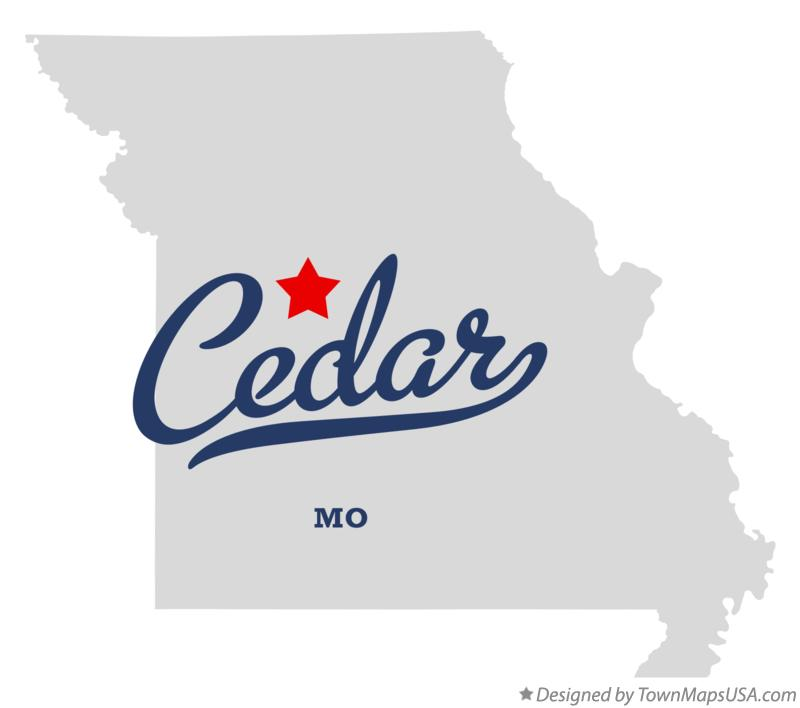 Map of Cedar Missouri MO
