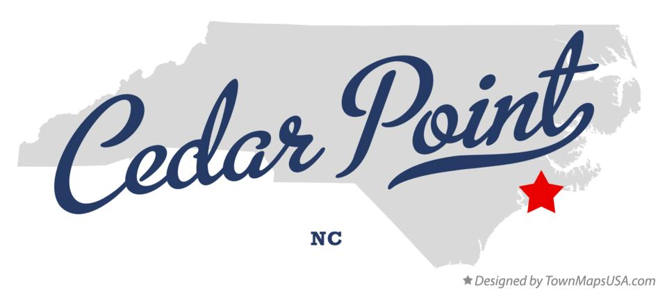 Map of Cedar Point North Carolina NC