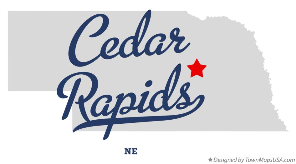 Map of Cedar Rapids Nebraska NE