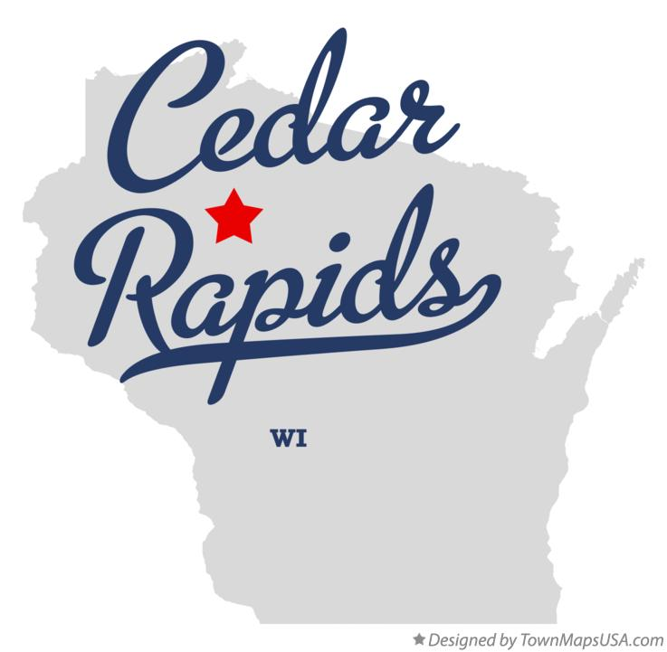 Map of Cedar Rapids Wisconsin WI