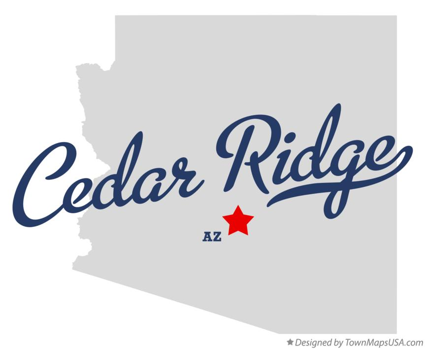 Map of Cedar Ridge Arizona AZ