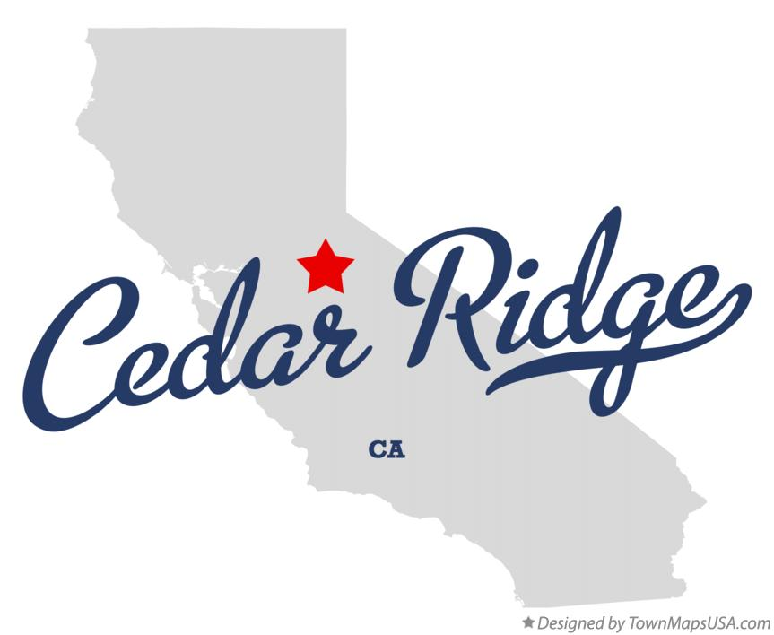 Map of Cedar Ridge California CA