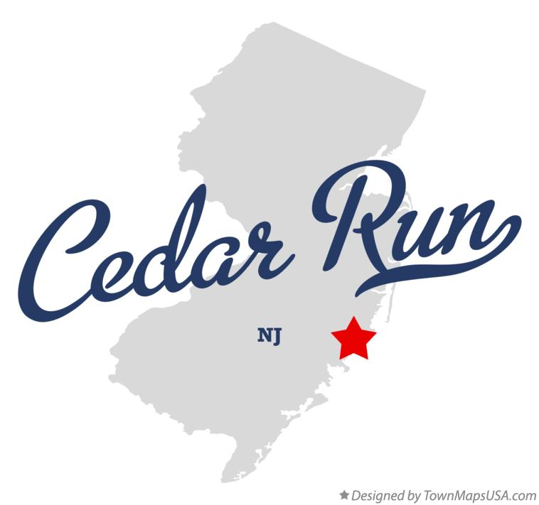 Map of Cedar Run New Jersey NJ