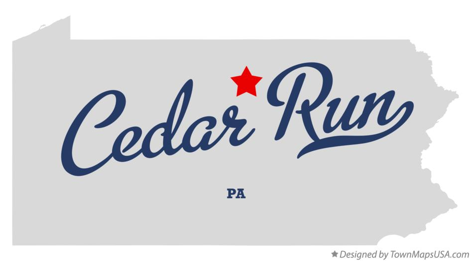 Map of Cedar Run Pennsylvania PA