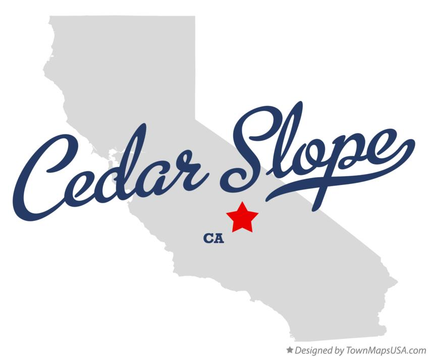 Map of Cedar Slope California CA