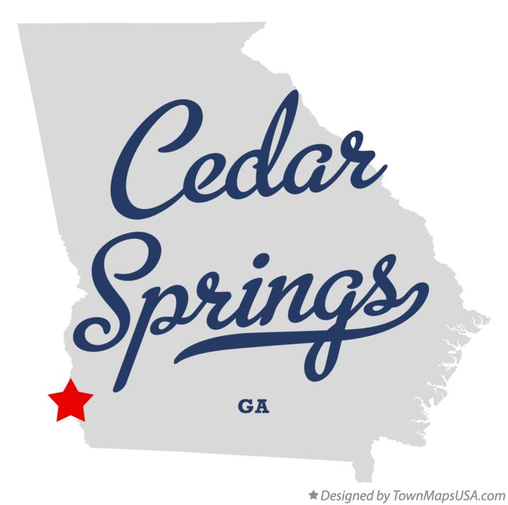 Map of Cedar Springs Georgia GA