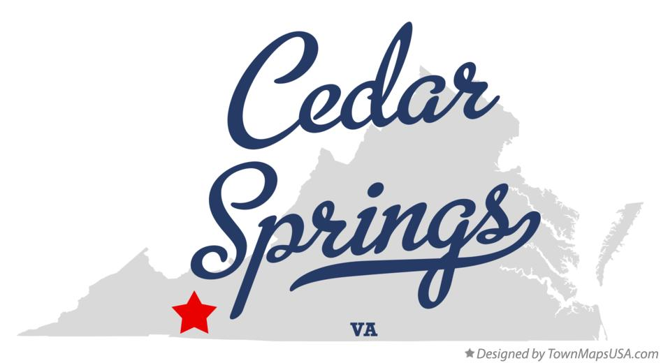 Map of Cedar Springs Virginia VA