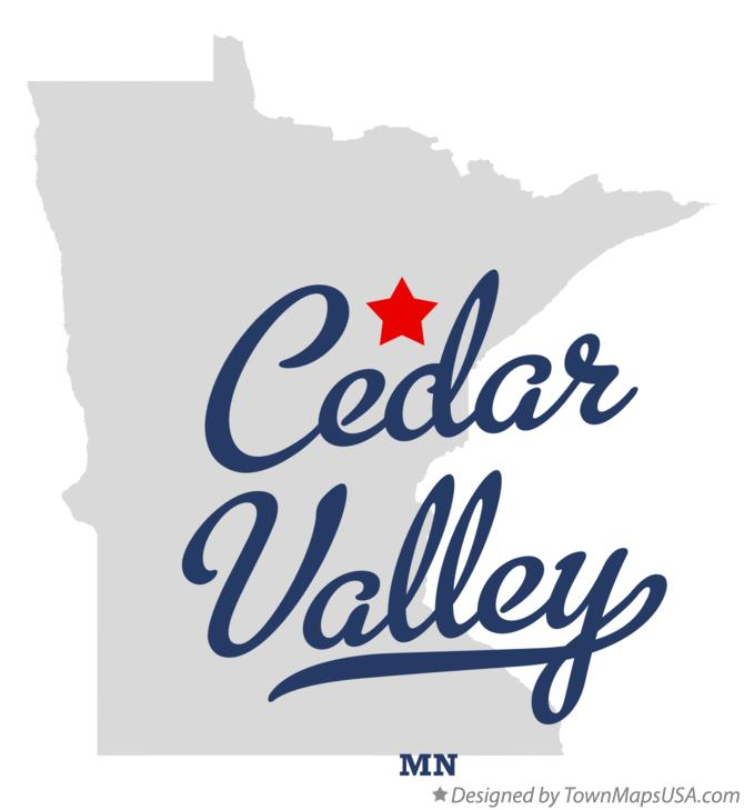 Map of Cedar Valley Minnesota MN