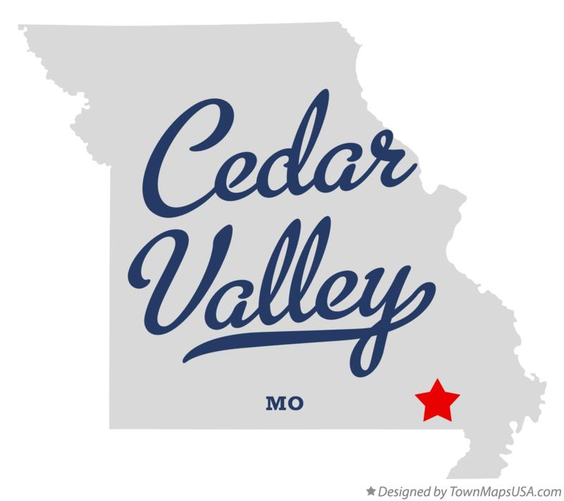 Map of Cedar Valley Missouri MO