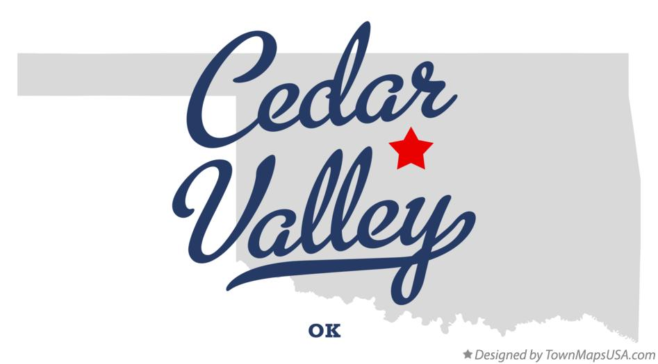 Map of Cedar Valley Oklahoma OK