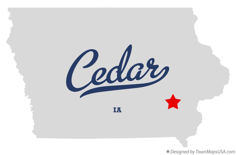 Map of Cedar Iowa IA