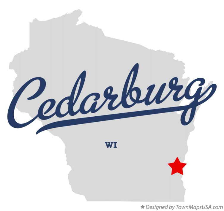 Map of Cedarburg Wisconsin WI