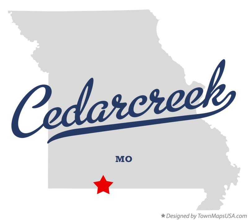 Map of Cedarcreek Missouri MO