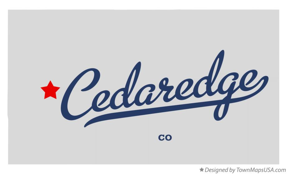 Map of Cedaredge Colorado CO