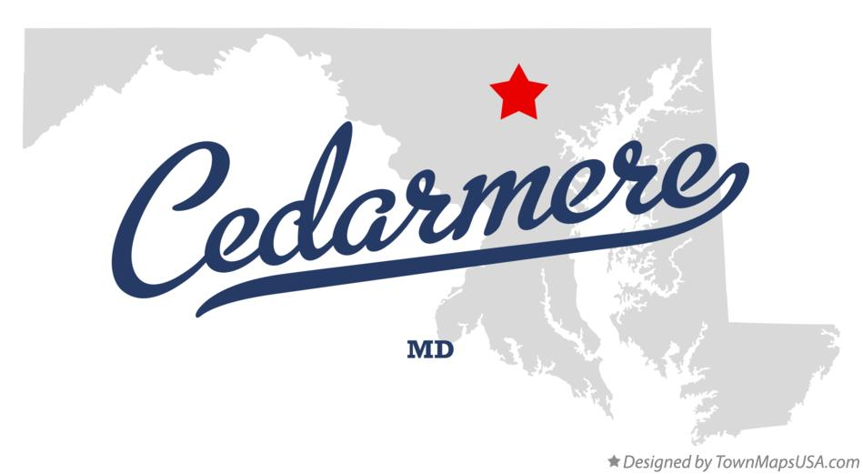 Map of Cedarmere Maryland MD