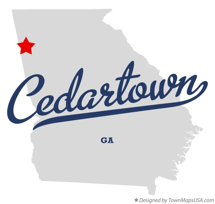 Map of Cedartown, GA, Georgia
