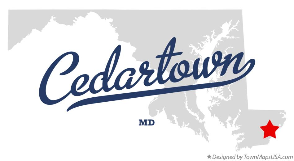 Map of Cedartown Maryland MD
