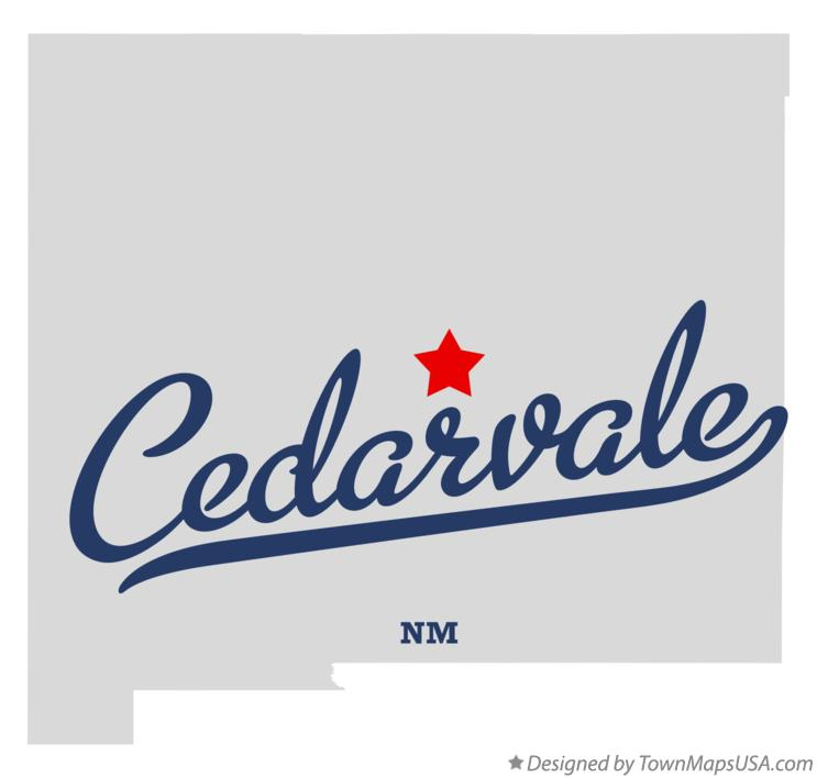 Map of Cedarvale New Mexico NM