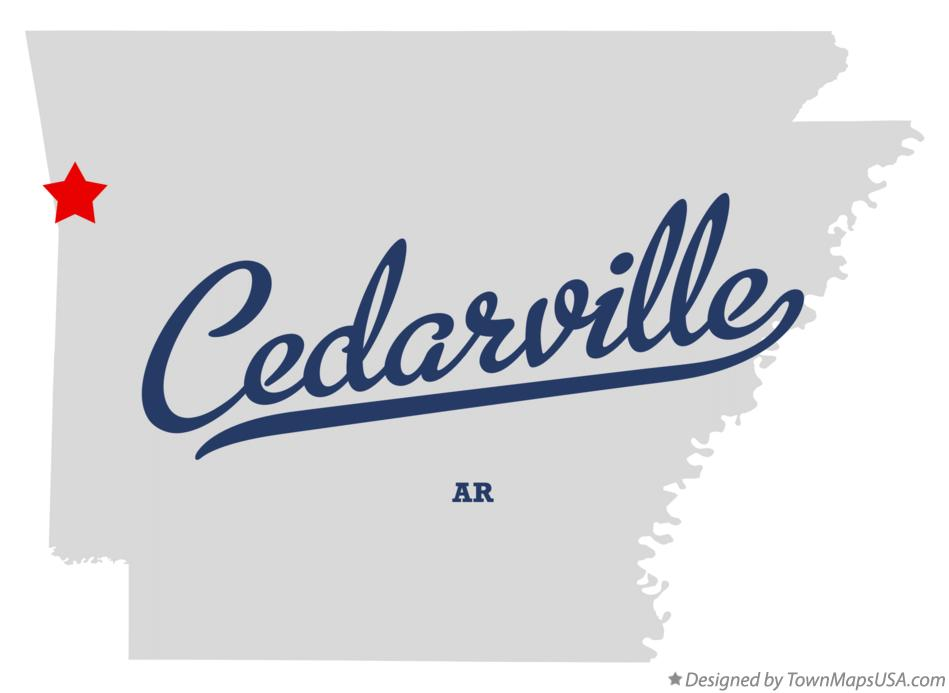 Map of Cedarville Arkansas AR