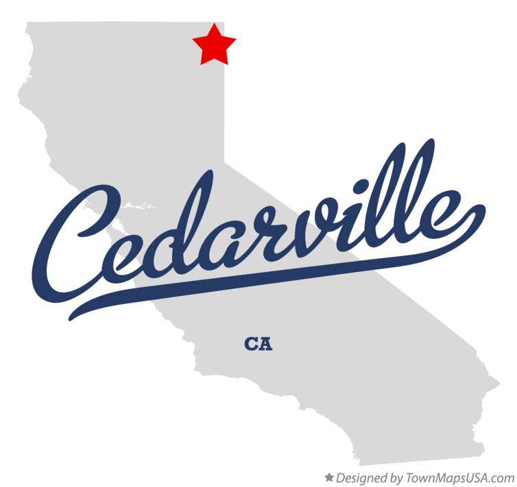 Map of Cedarville California CA