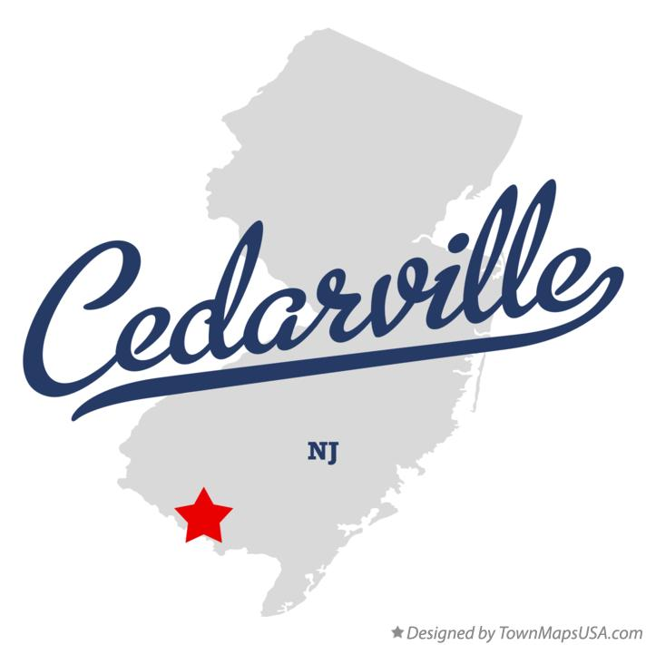 Map of Cedarville New Jersey NJ