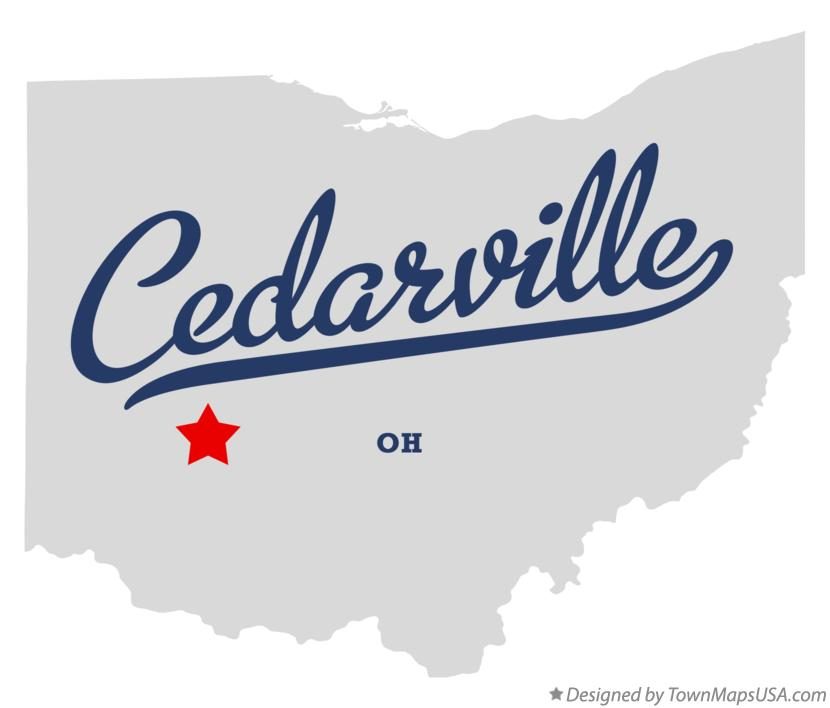 Map of Cedarville Ohio OH