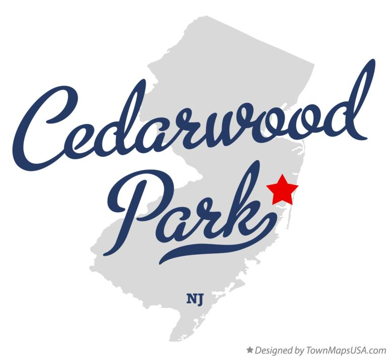Map of Cedarwood Park New Jersey NJ