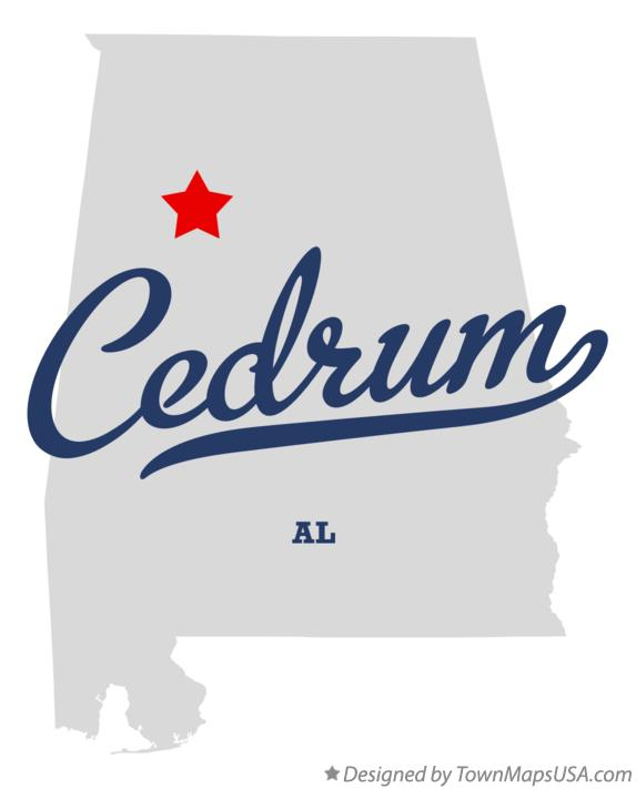 Map of Cedrum Alabama AL