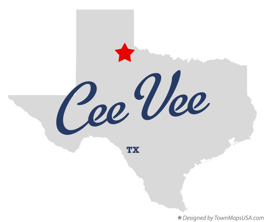 Map of Cee Vee Texas TX