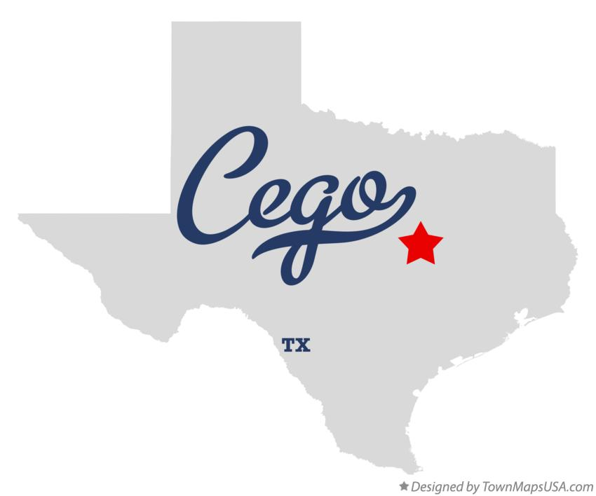 Map of Cego Texas TX
