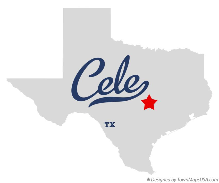 Map of Cele Texas TX